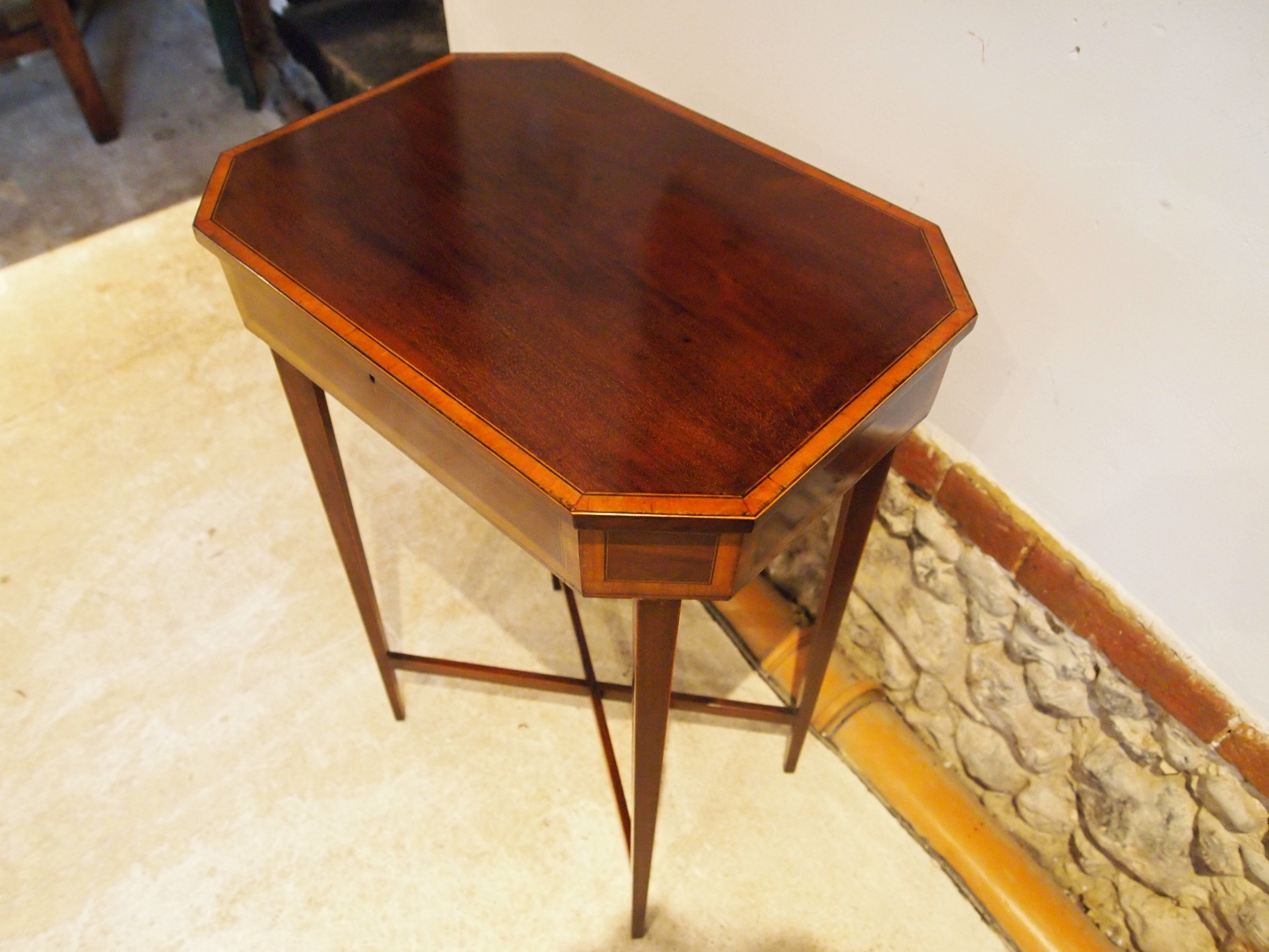 table fine george iii mahogany sheraton side hall lamp c1790