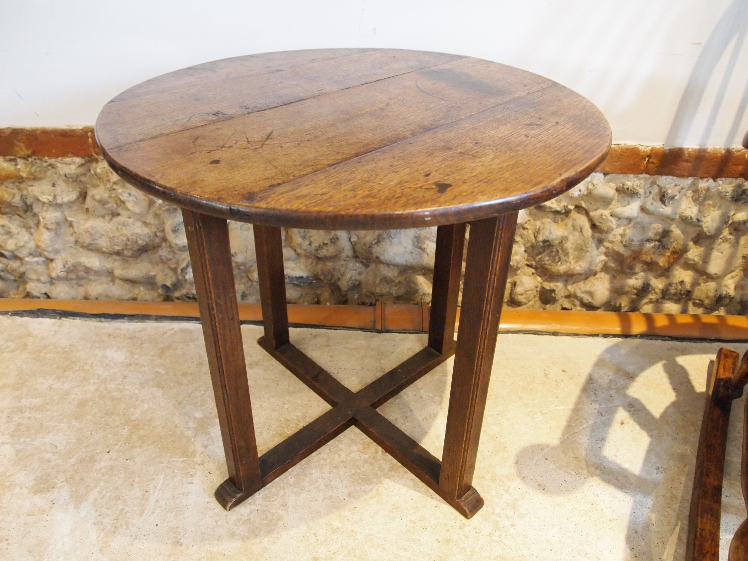 table cricket table victorian oak side hall lamp c1840