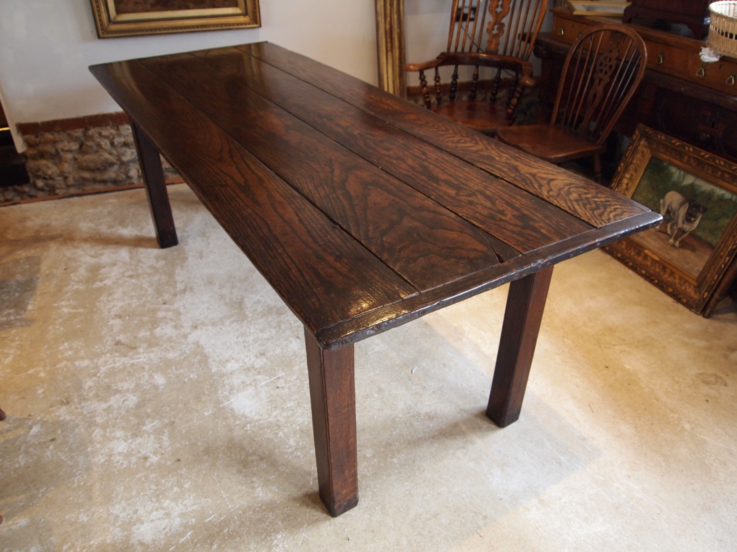 table rare english george i oak refectory farmhouse c1720