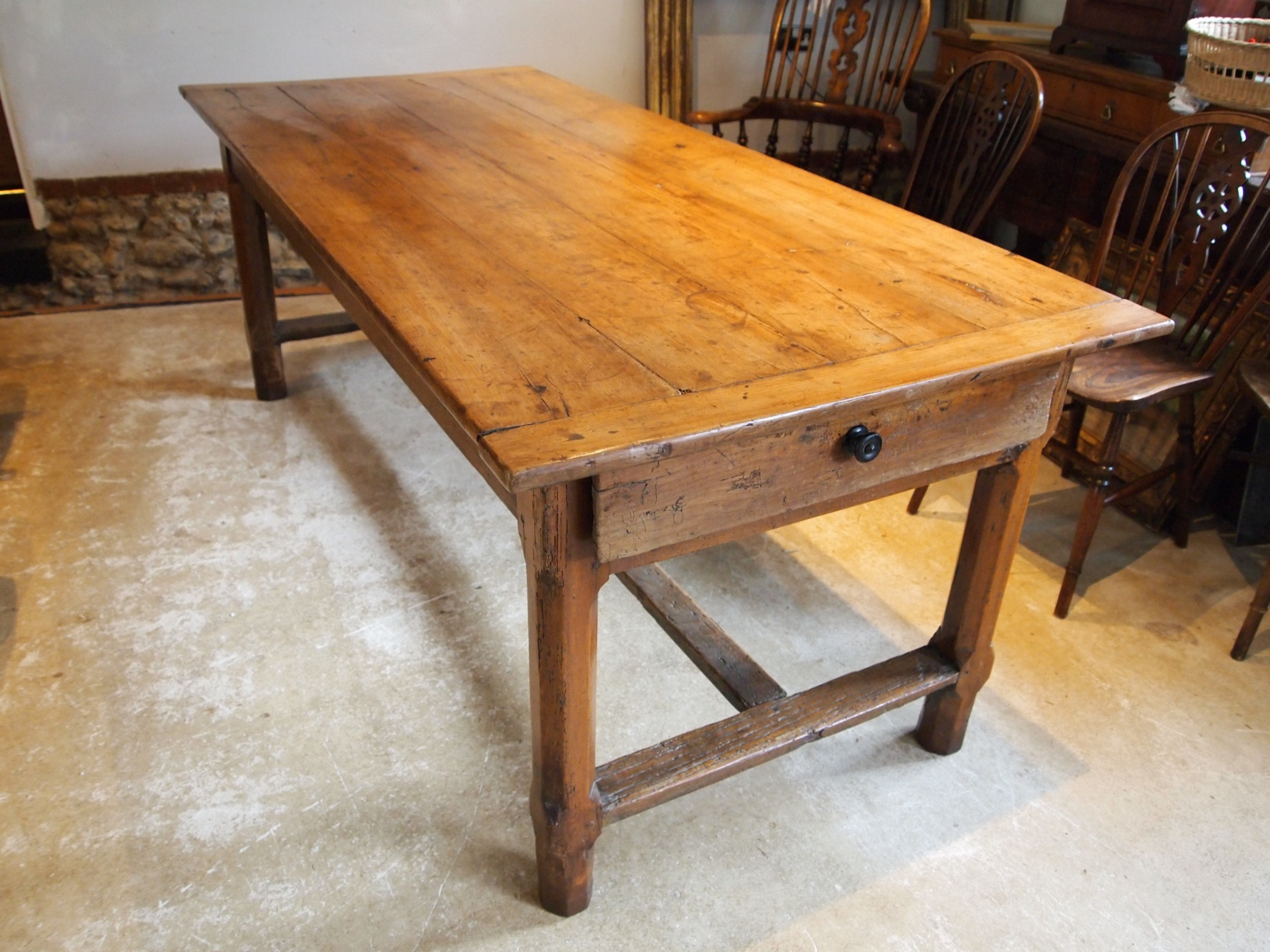 table rare french apple wood refectory dining farmhouse c1800