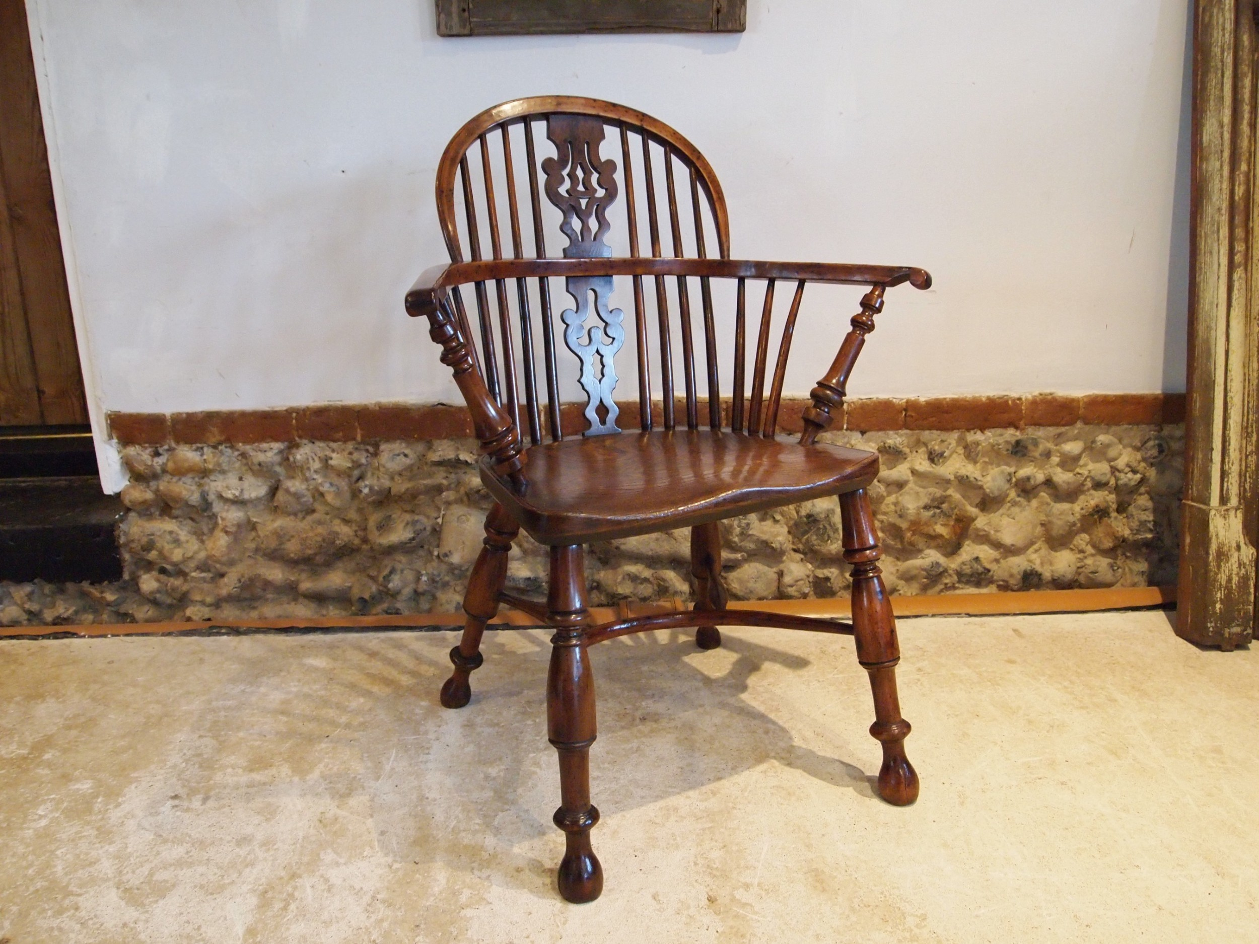 chair windsor pippy burr yew very fine george iii c1800
