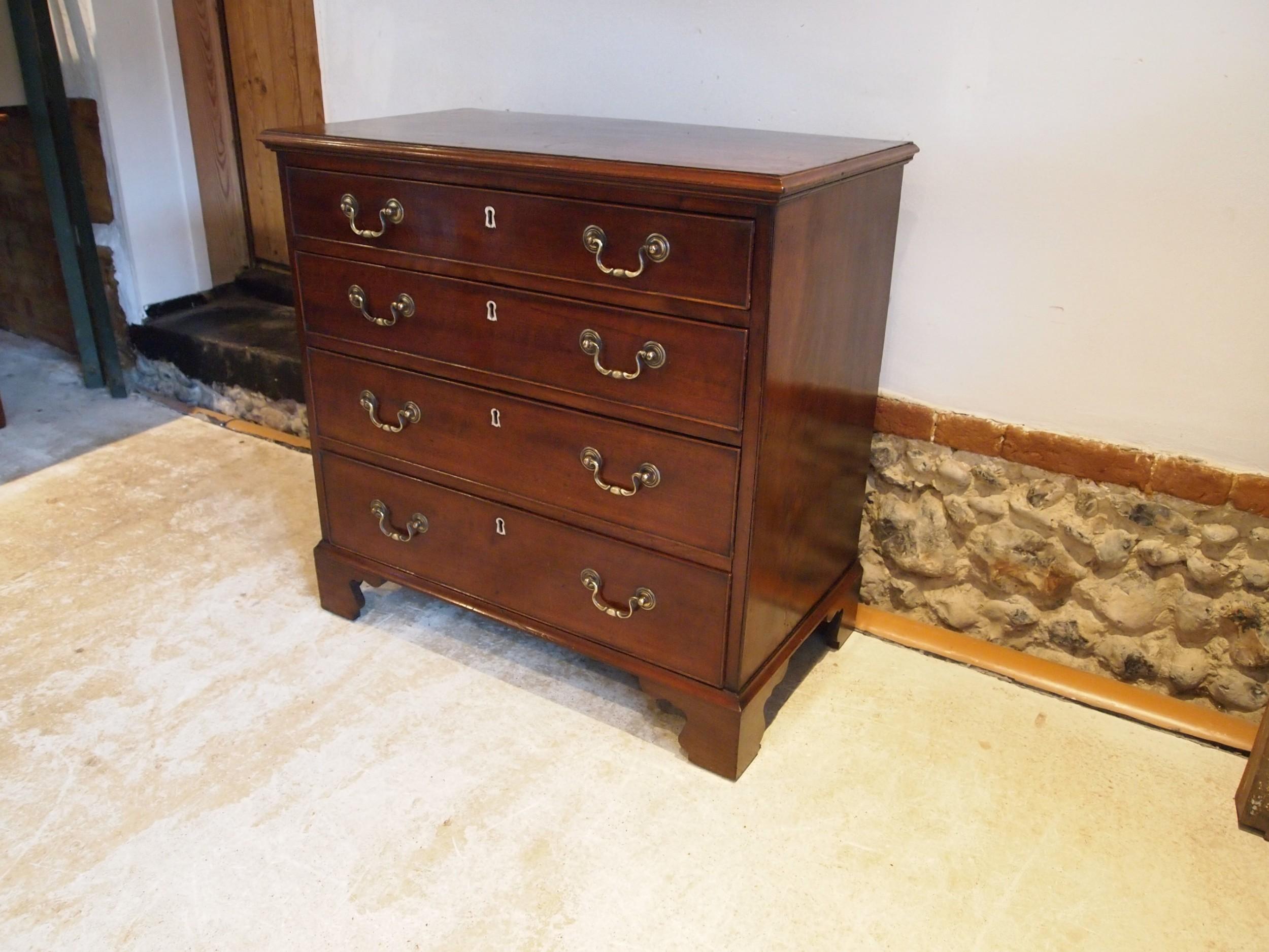 chest of drawers small george iii bachelors mahogany c1790