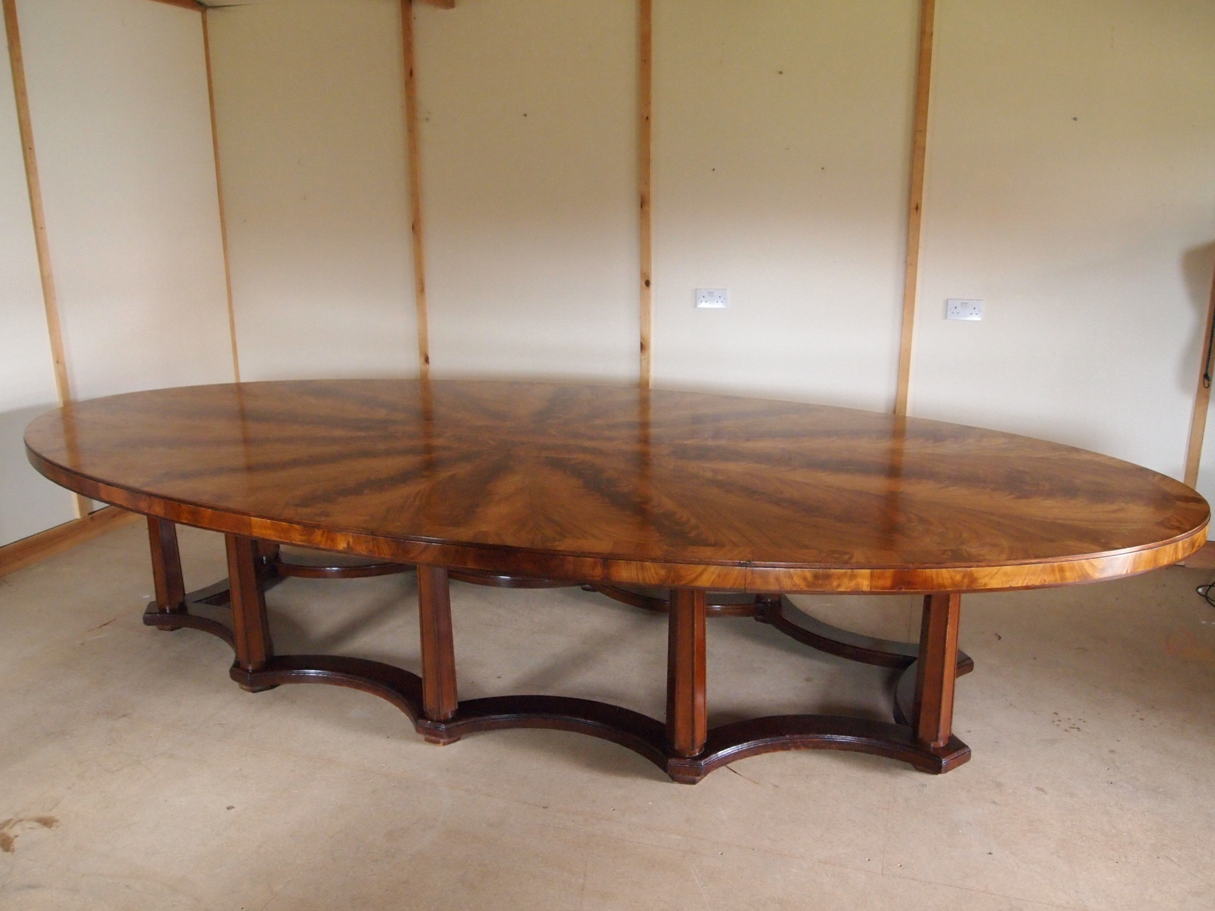 table dining boardroom large edwardian seats 20 norwich union c1900