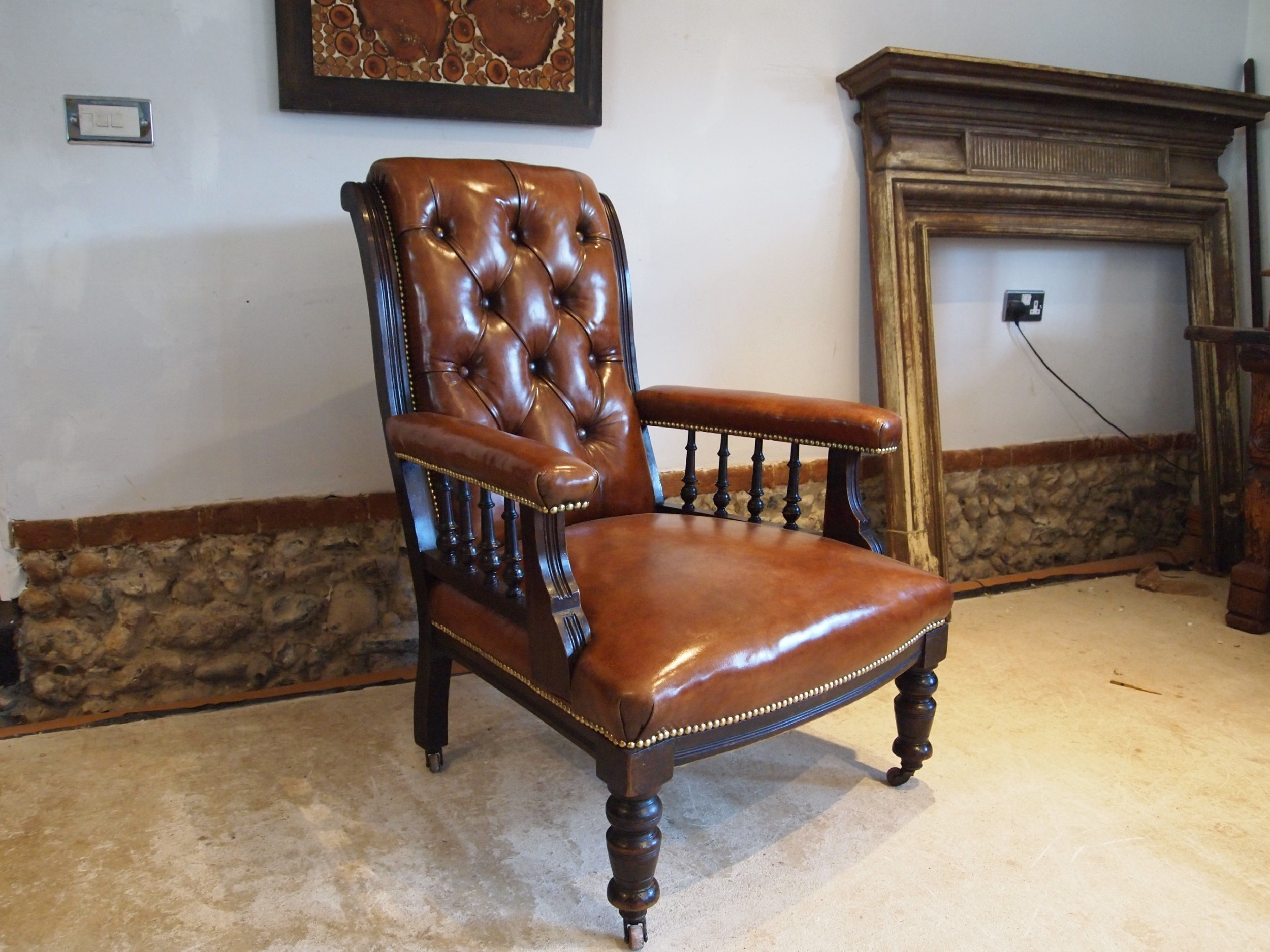 chair stunning victorian leather library armchair c1870