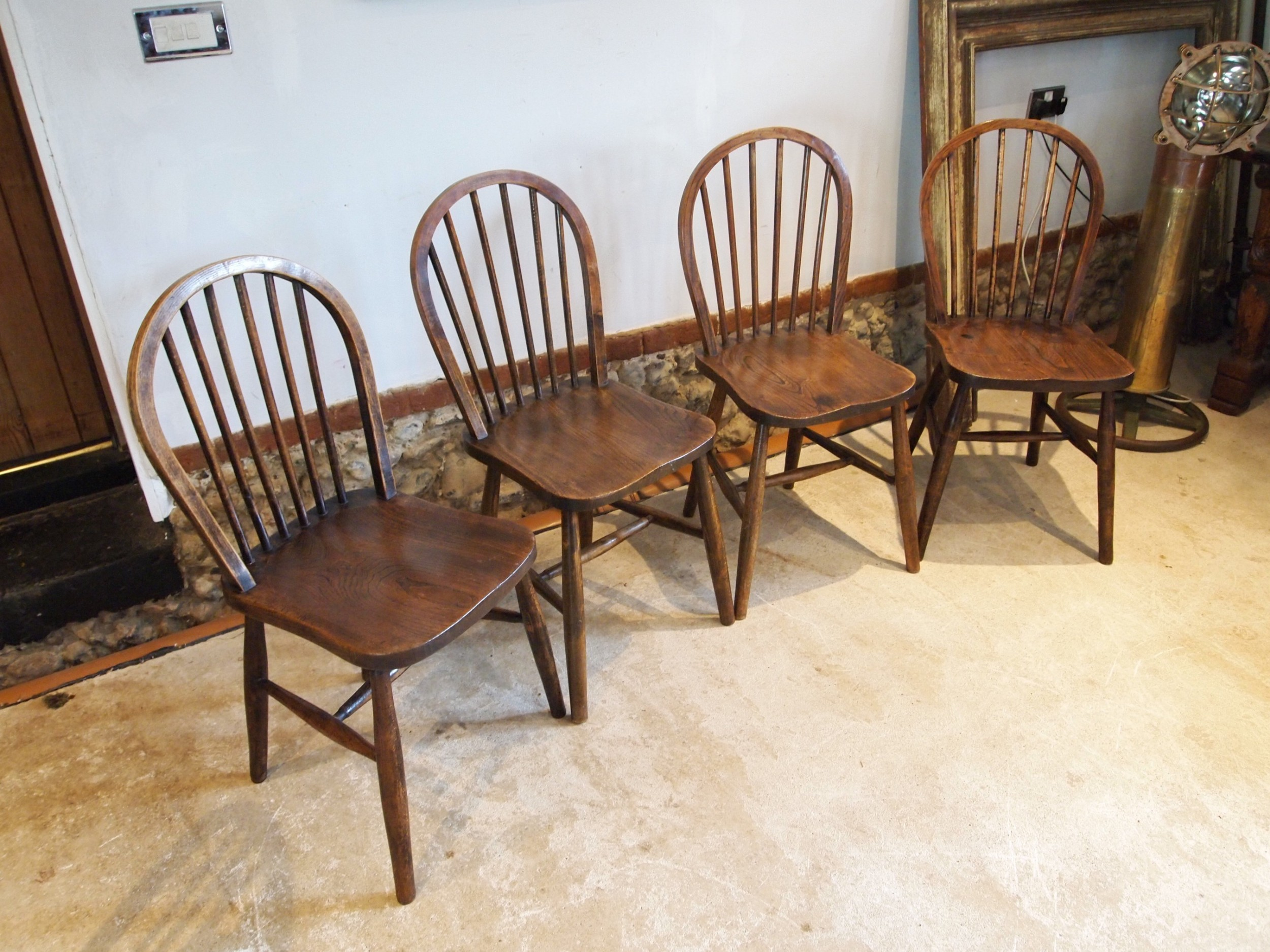 chairs windsor dining kitchen chairs set of 4 edwardian elm ash beech c1900