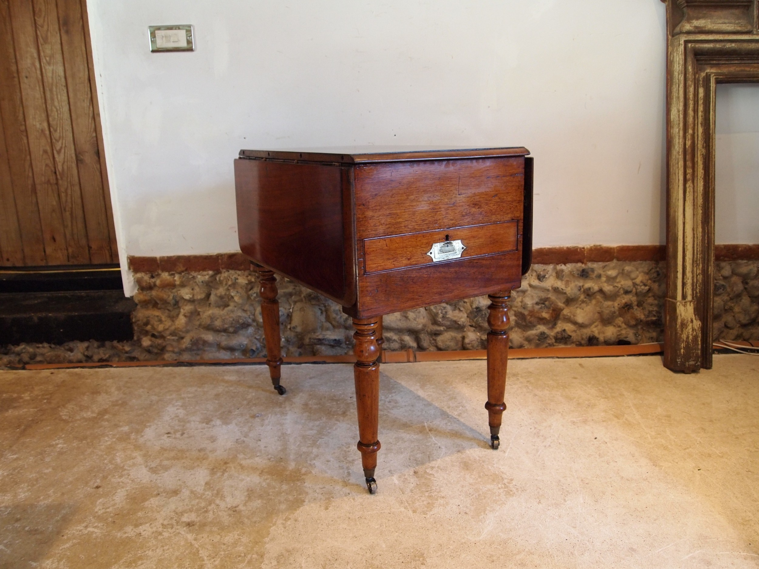 table v rare military campaign dressing dining and writing table c1850