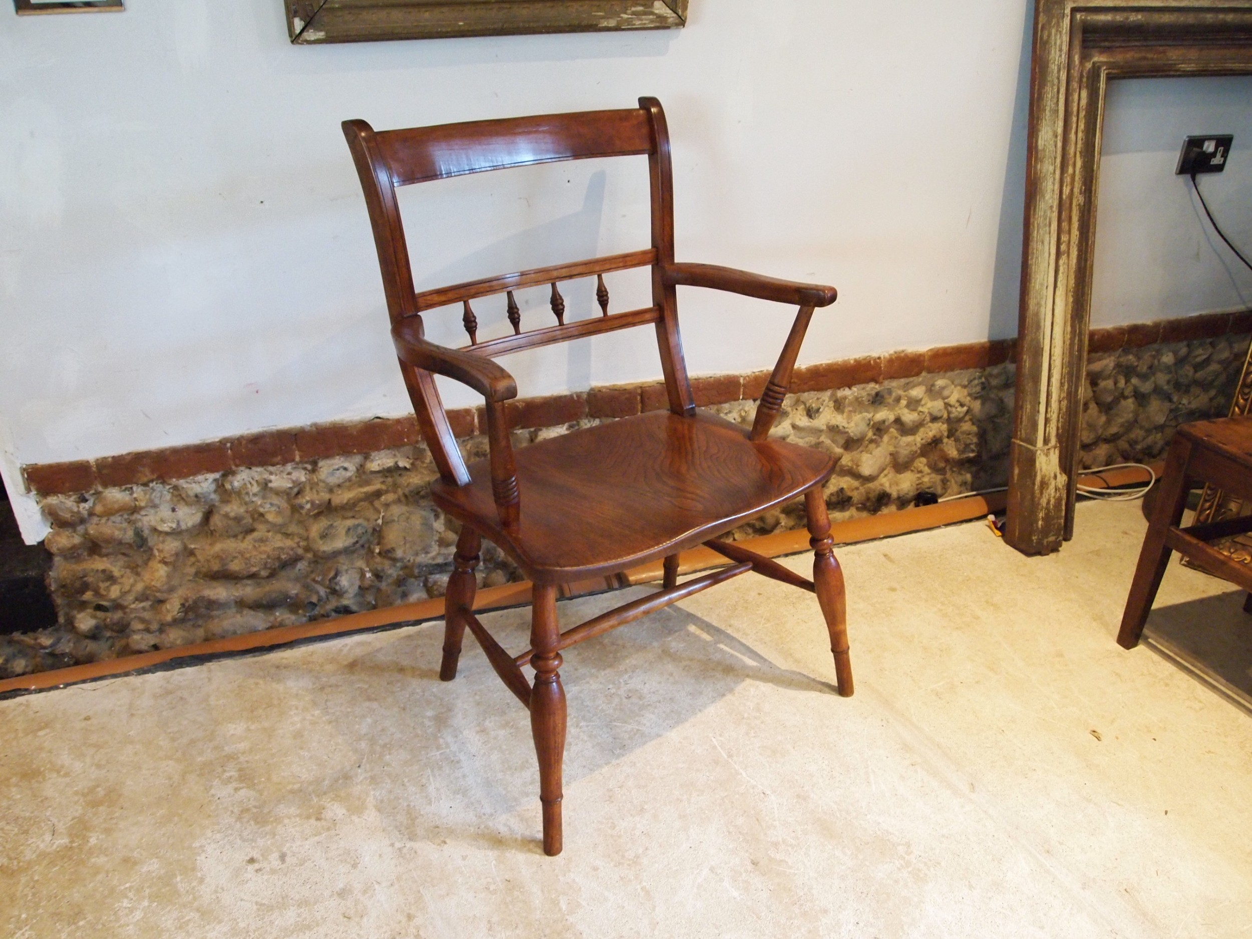 chair very rare large east anglian windsor armchair c1850