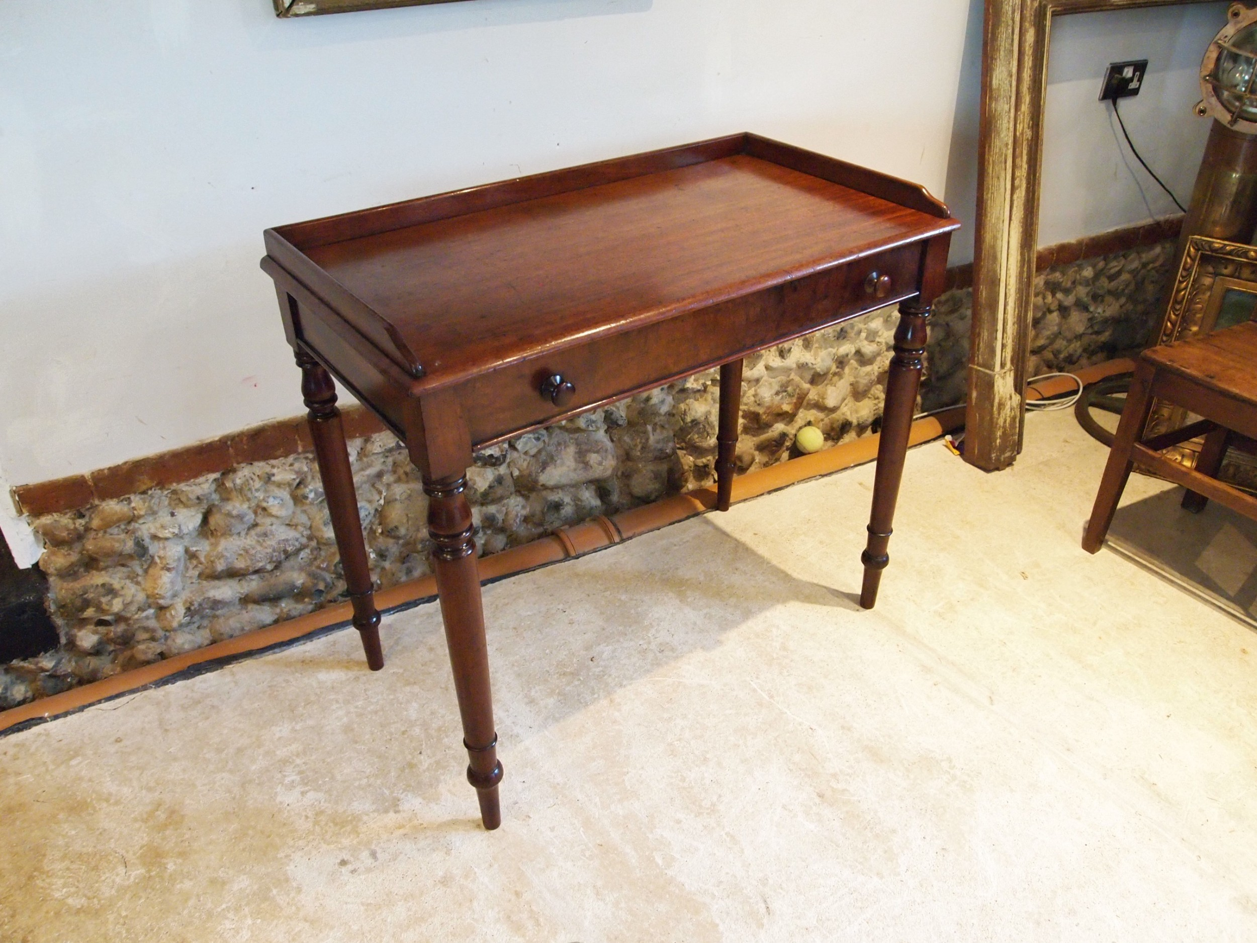 table fine writing table manner of gillows plum pudding mahogany c1840