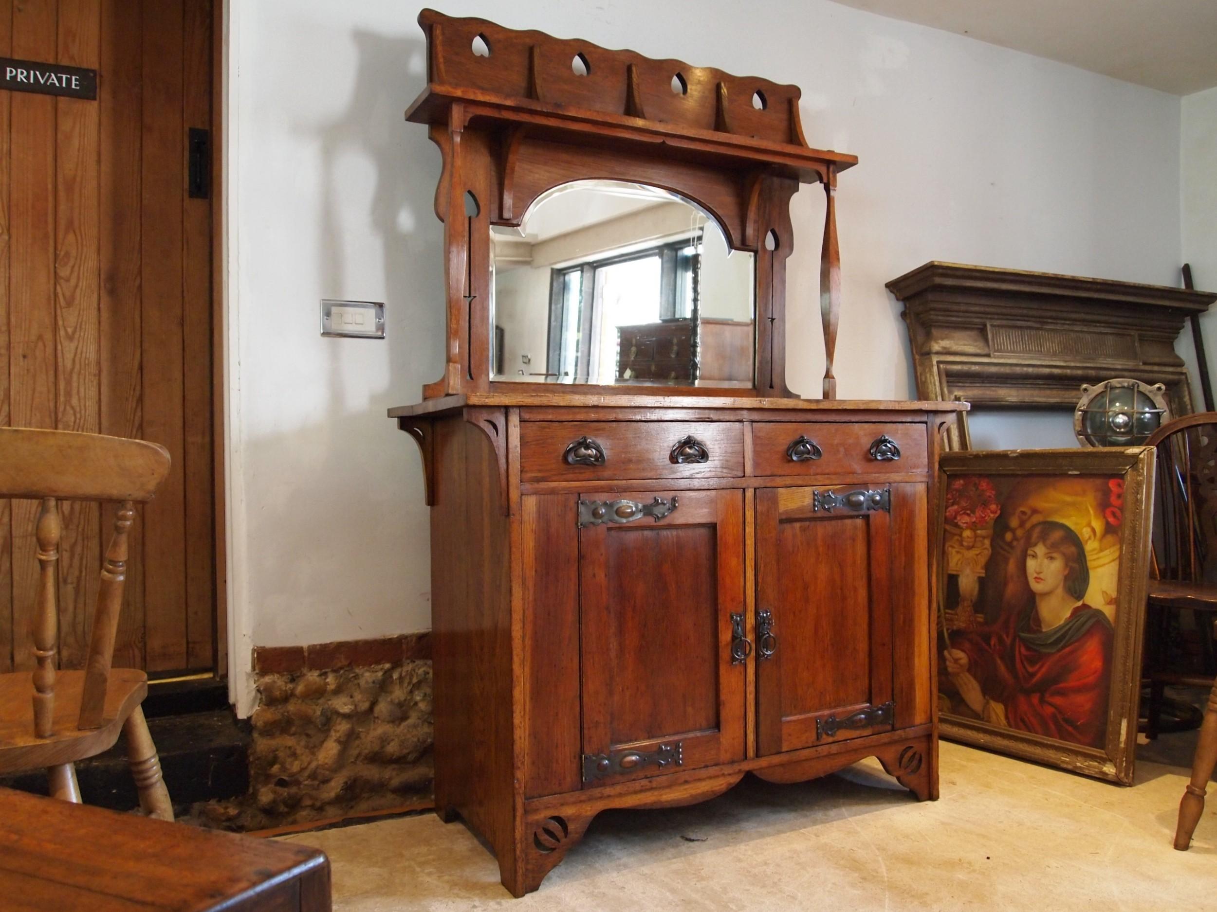 dresser sideboard superb arts and crafts oak voysey style c1900