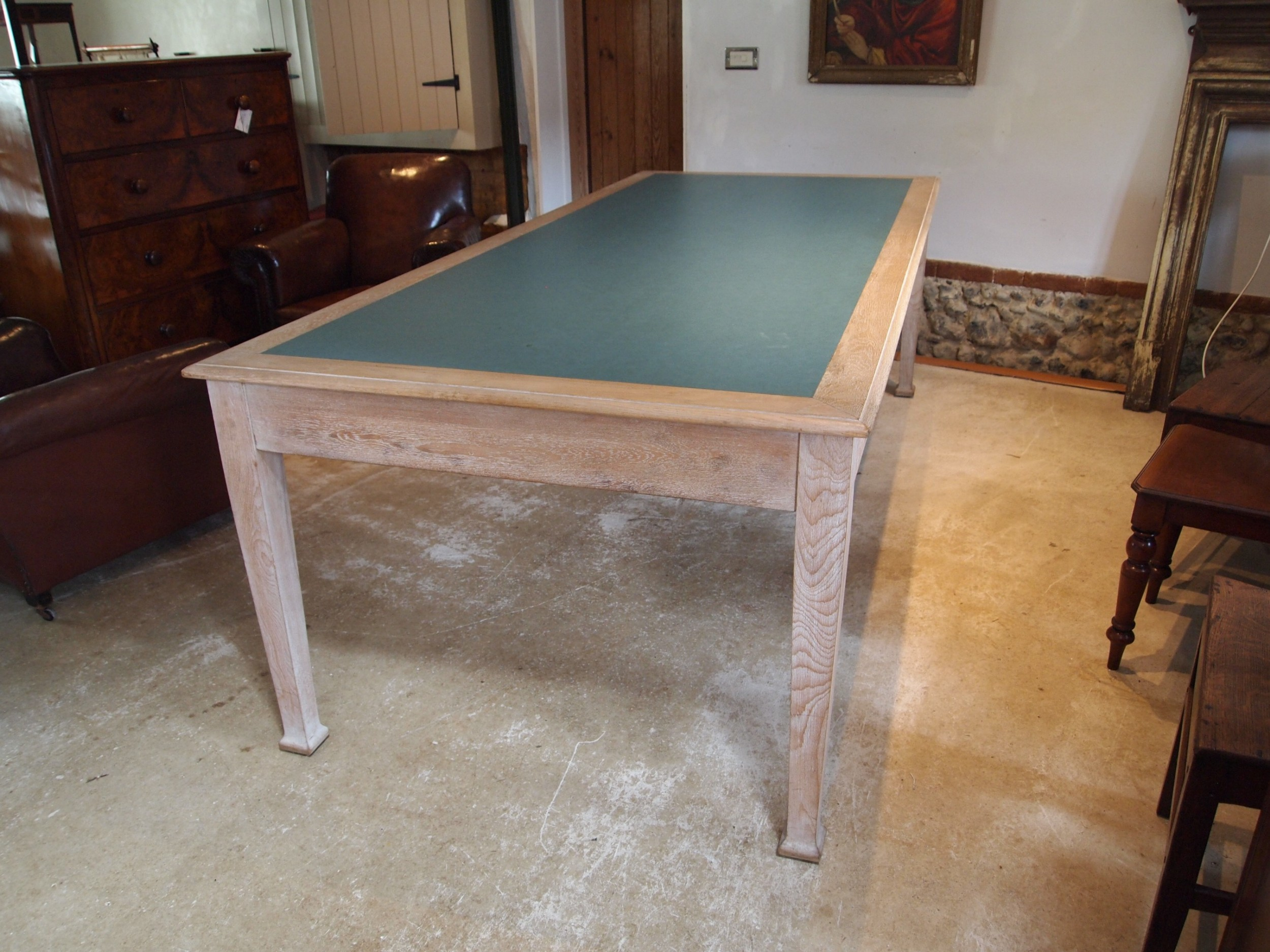 table library boardroom rare limed oak attributed to heals c1930
