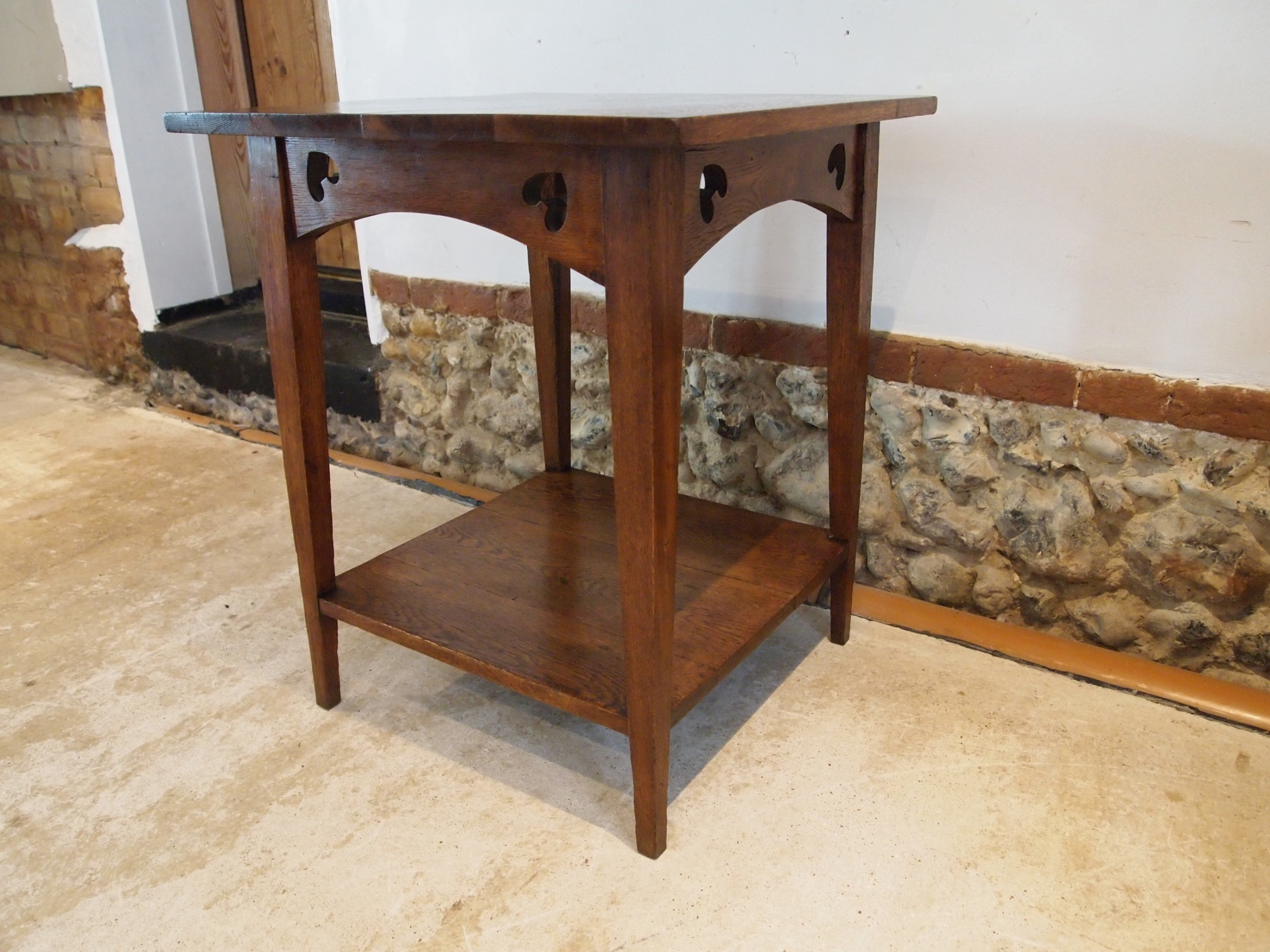 table arts and crafts oak manner of voysey c1890
