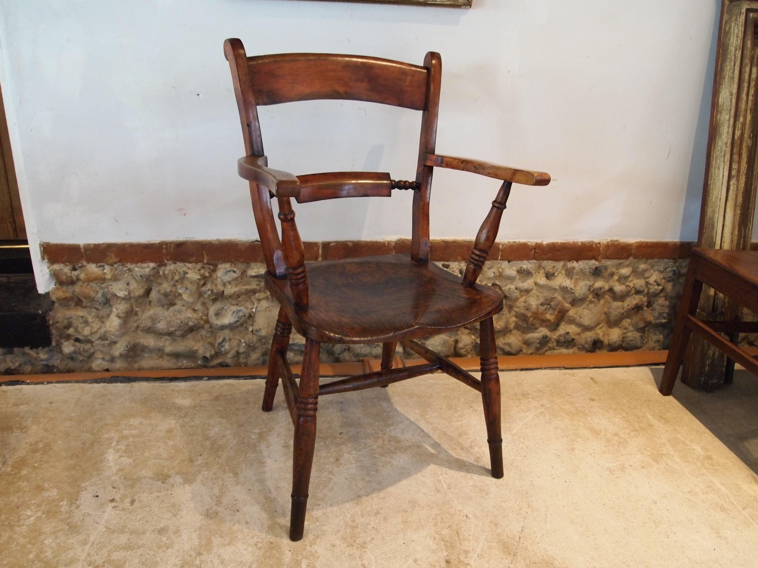 chair stunning victorian elm ash beech windsor knifeback c1870
