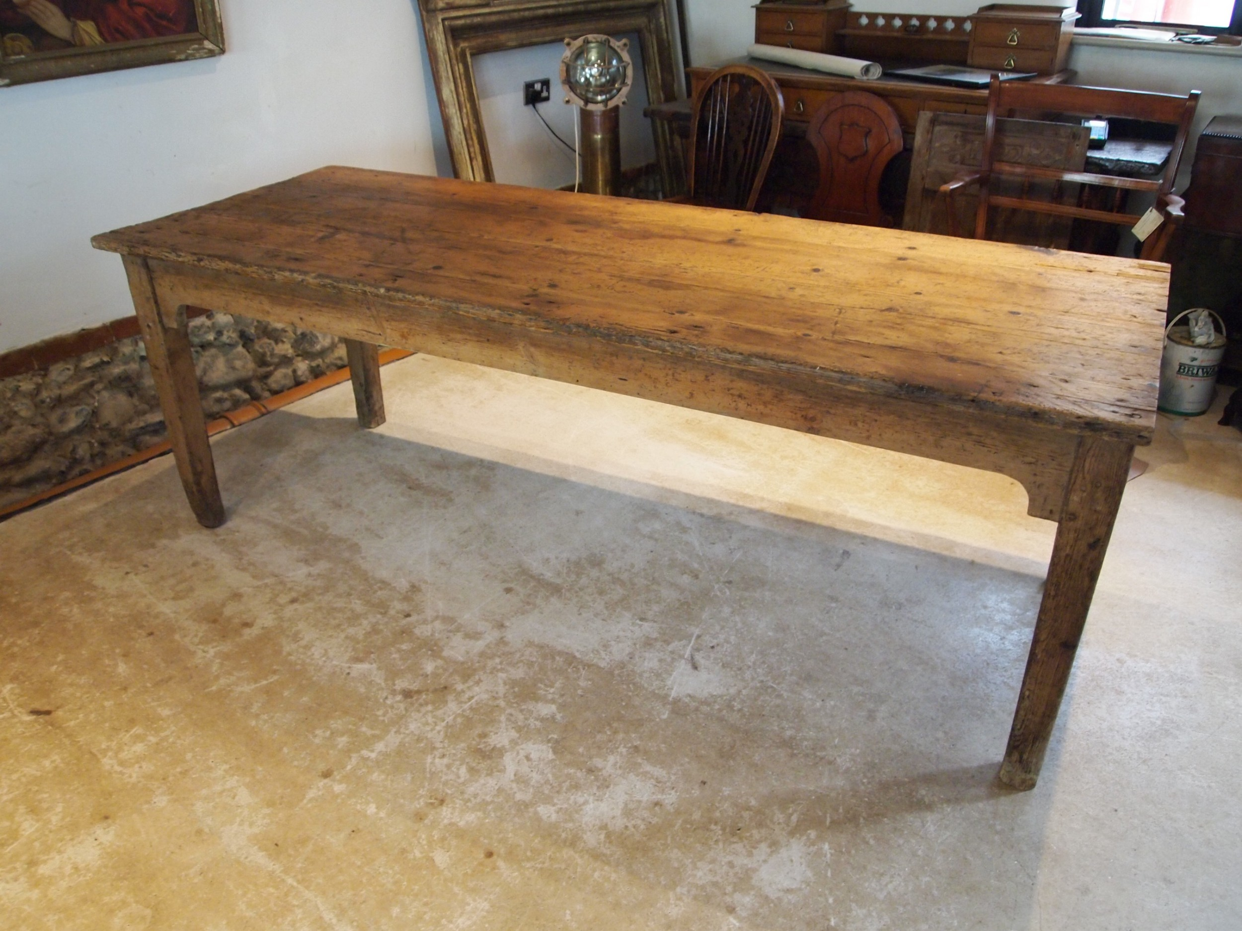 table refectory dining farmhouse rustic george iv pine c1820