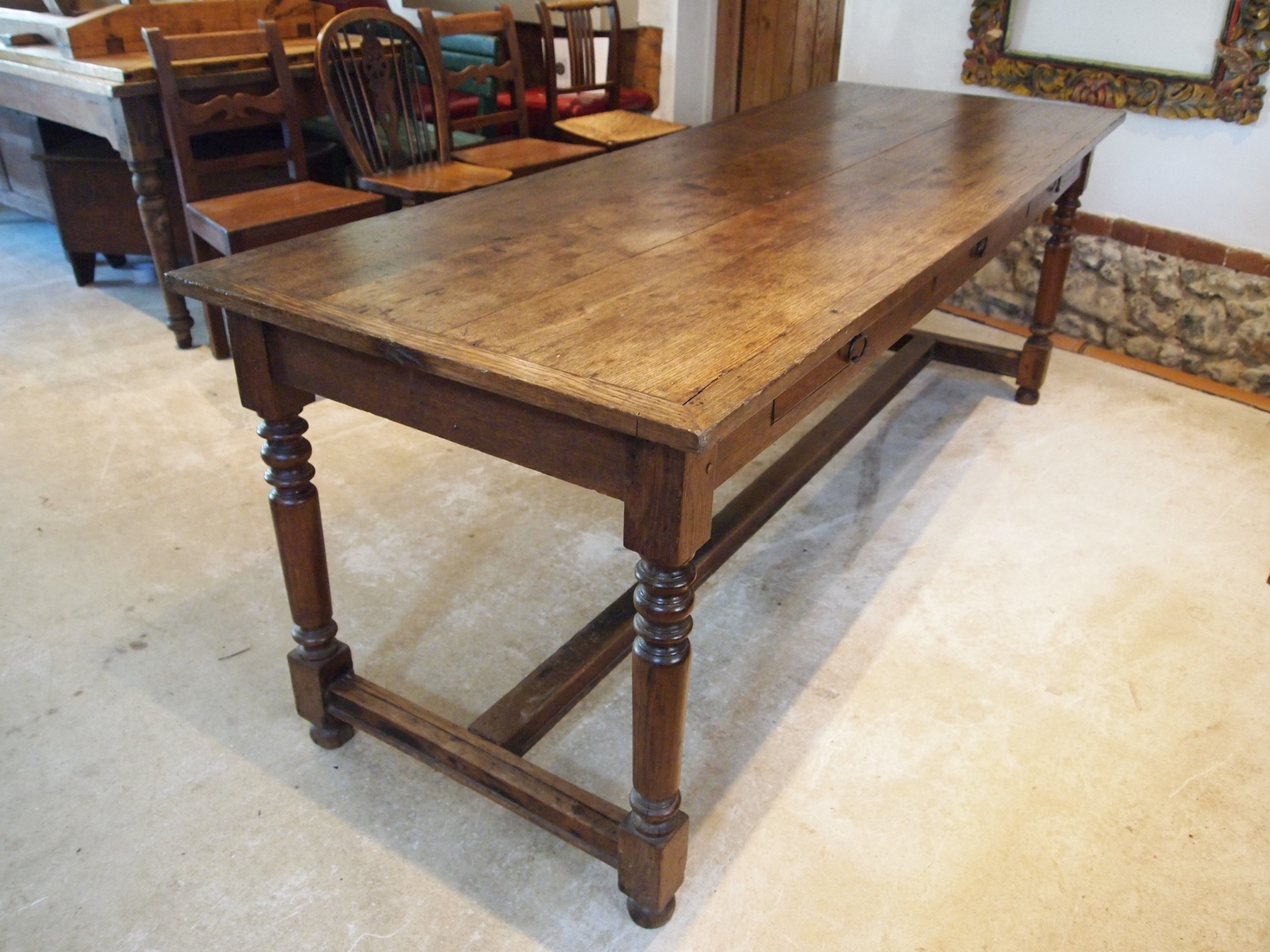 table refectory farmhouse dining french oak c1880