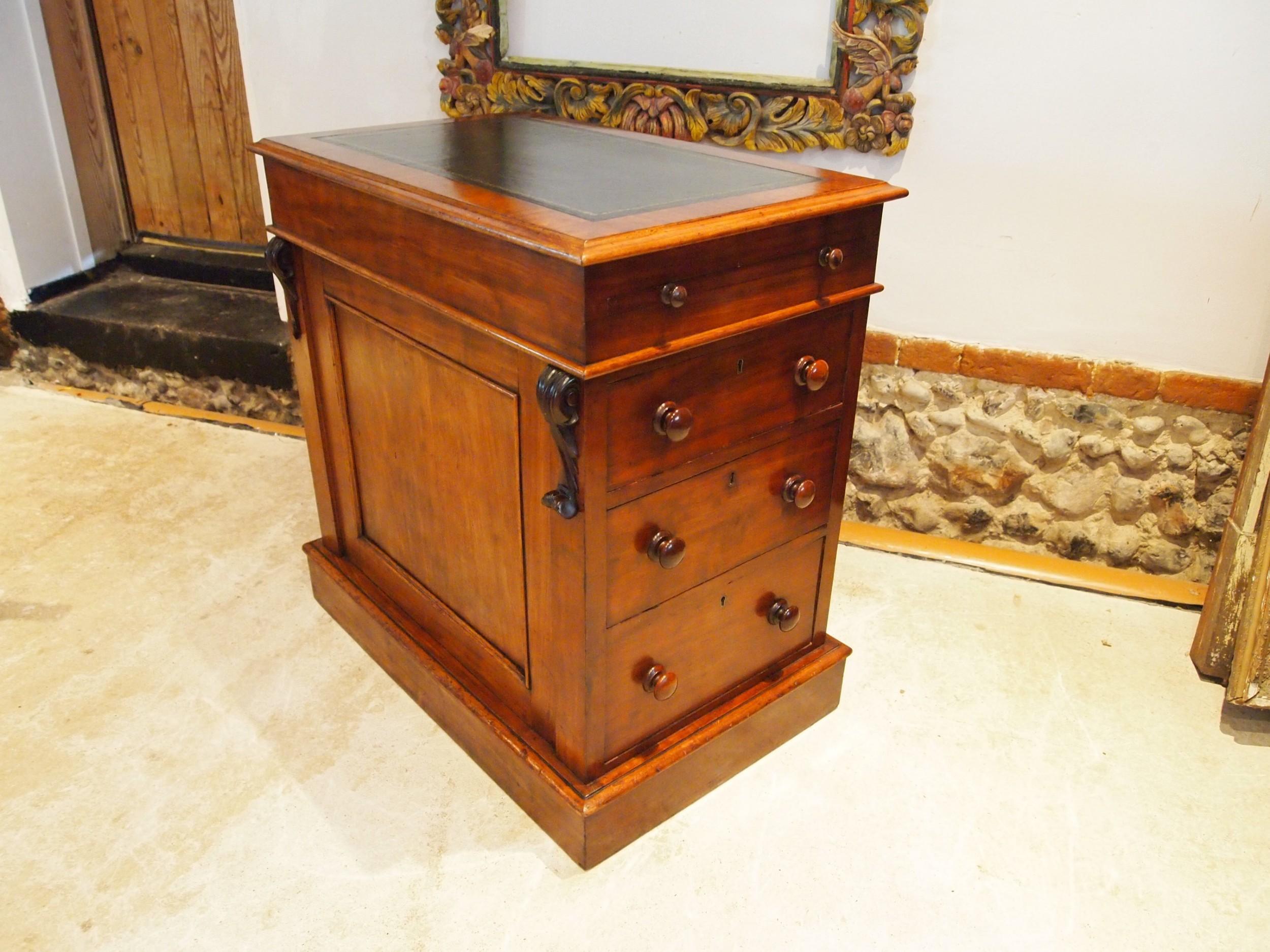 desk wonderful compact early victorian mahogany c1840