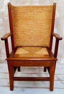 antique scottish orkney oak children's chair