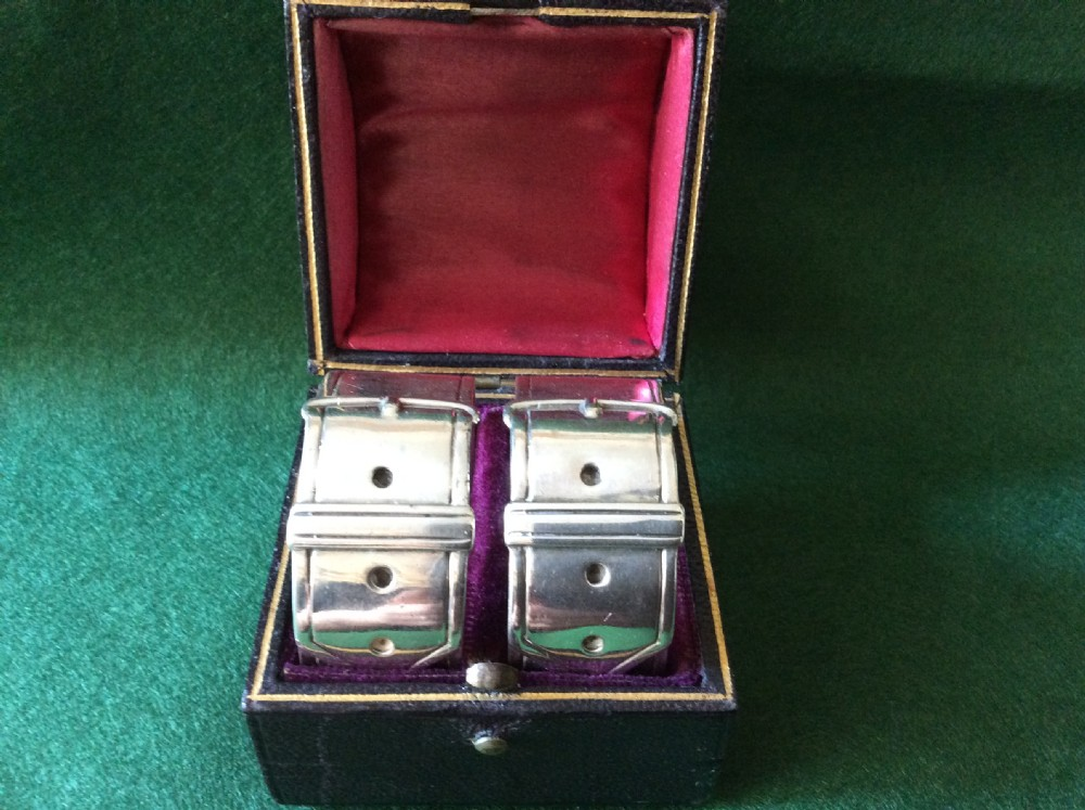 pair of silver napkin rings by james dixon sons