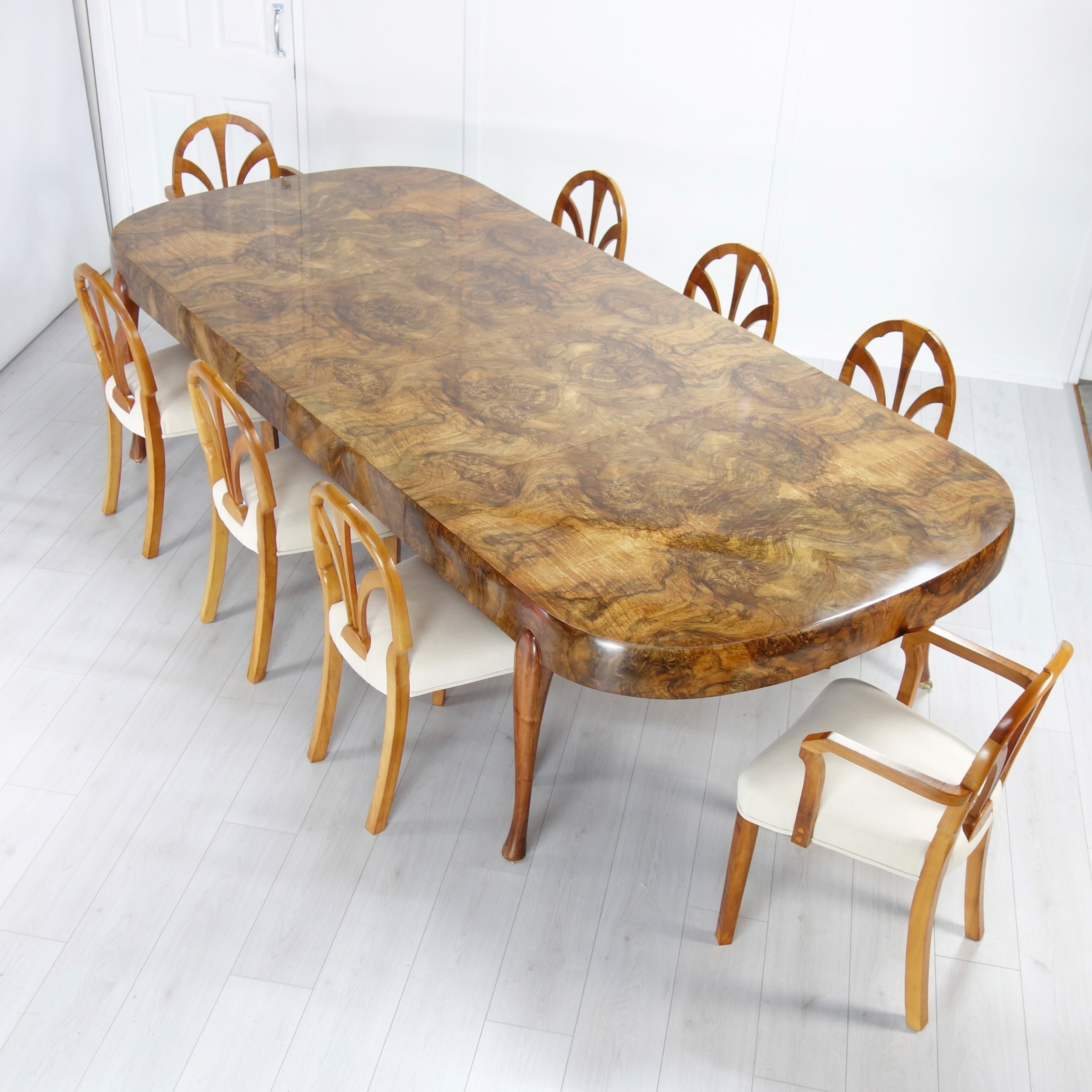Art Deco Extending Dining Table And Eight Chairs By Maurice Adams 1930 S 708195 Sellingantiques Co Uk