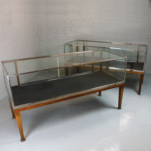 pair vintage shop display cabinets - Pair Vintage Shop Display Cabinets. 230527 Sellingantiques.co.uk