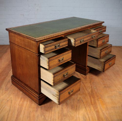edwardian kneehole desk - photo angle #3