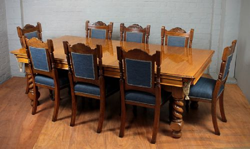 Edwardian Oak Snooker Dining Table By Riley 245785