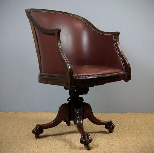 edwardian mahogany desk chair 255599 sellingantiques co uk