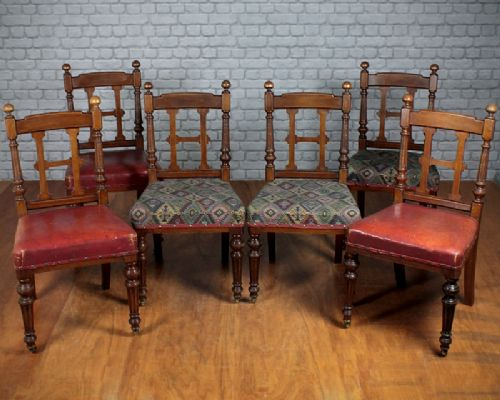 Admirable Six Oak Dining Chairs By Lamb Of Manchester C 1875 272595 Caraccident5 Cool Chair Designs And Ideas Caraccident5Info