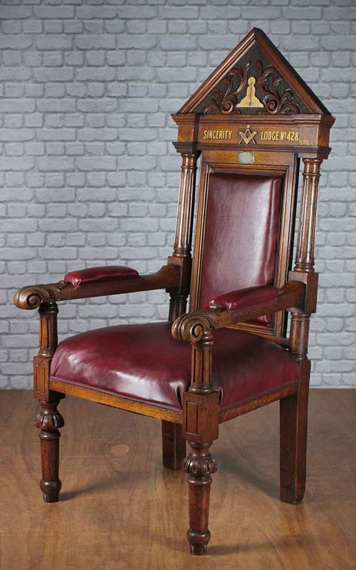Pair Of Masonic Throne Chairs C.1894. : 272598 : Sellingantiques.co.uk