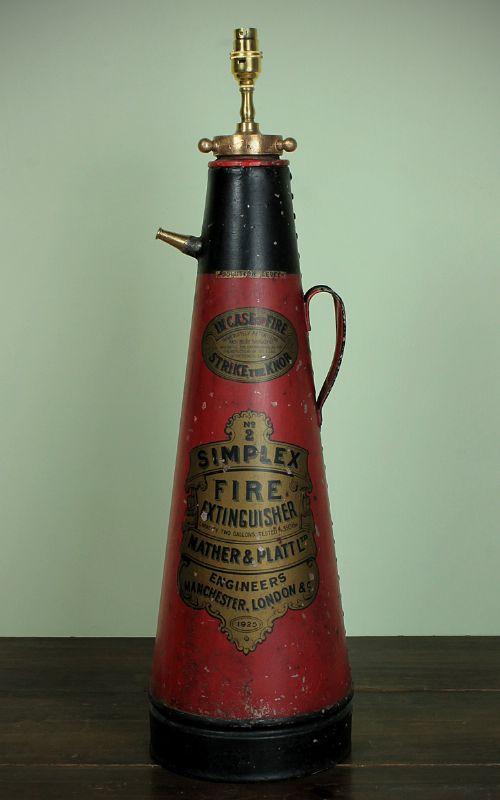 1925 Mather Amp Platt Fire Extinguisher Lamp 293189