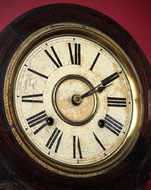 Elias Ingraham Gilded Wall Clock C.1885.