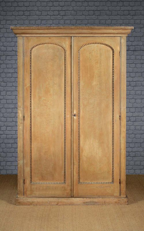 regency painted pine wardrobe c1810