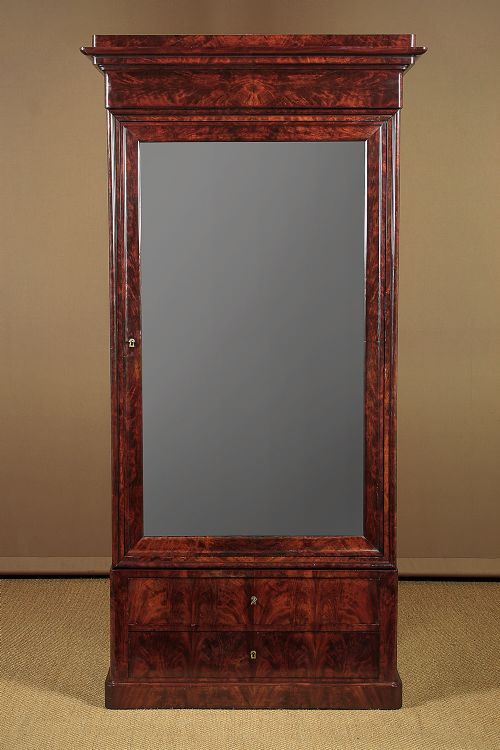 early 19thc louis philippe mahogany wardrobe linen press c1830