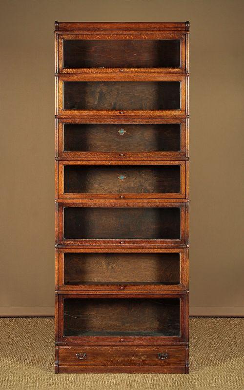 edwardian oak stacking office bookcase