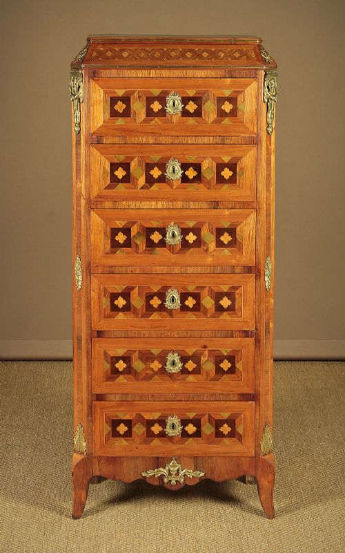 narrow french chest of drawers c1900