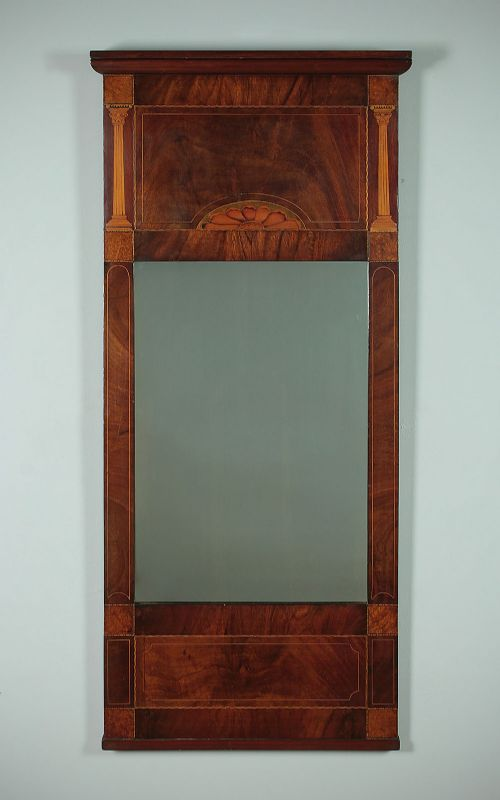 early 19thc mahogany pier glass c1835