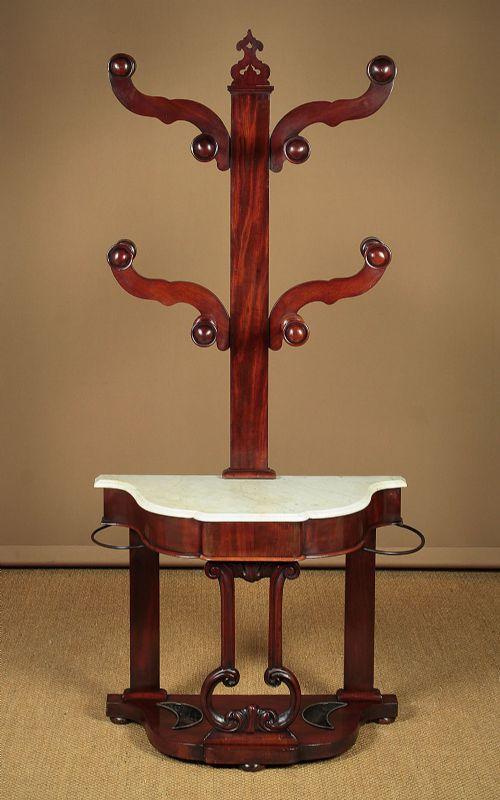 mid 19thc mahogany hall stand c1850