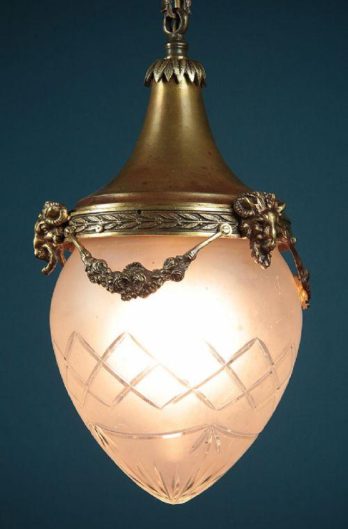 large brass porch light c1920