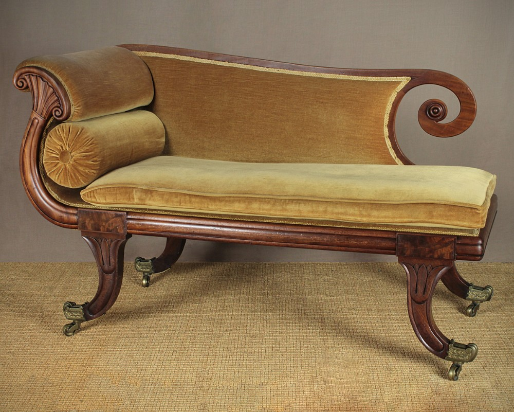 Small regency chaise longue 284158 for Antique chaise longue