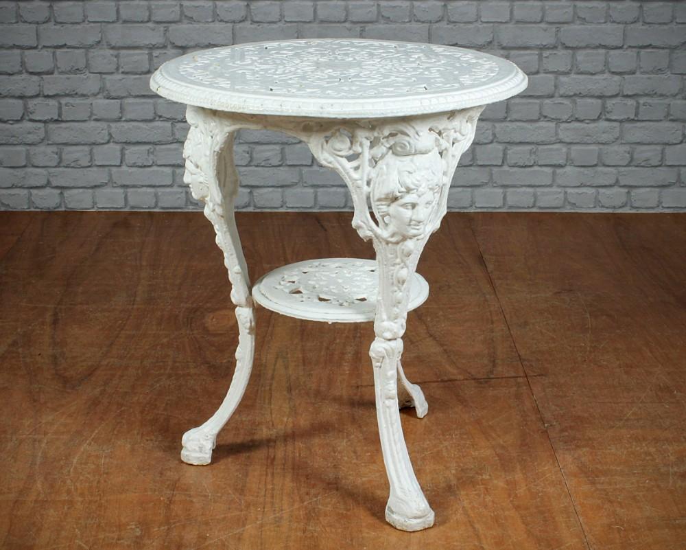 Victorian Cast Iron Garden Table C 1890 291544