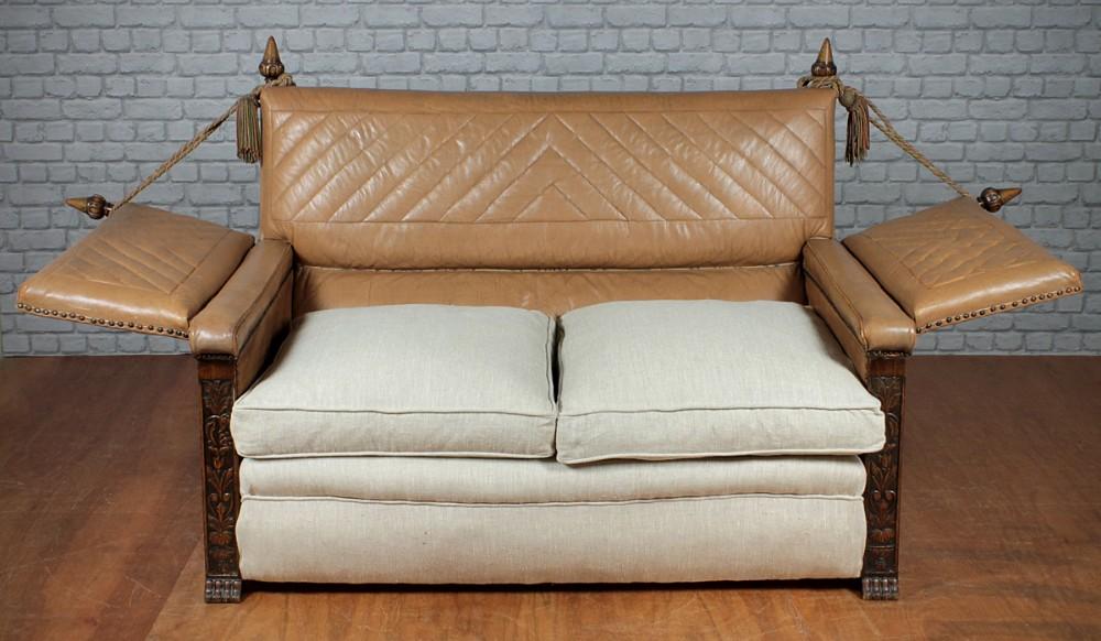 Astounding Small Leather Knole Sofa C 1920 309638 Sellingantiques Inzonedesignstudio Interior Chair Design Inzonedesignstudiocom