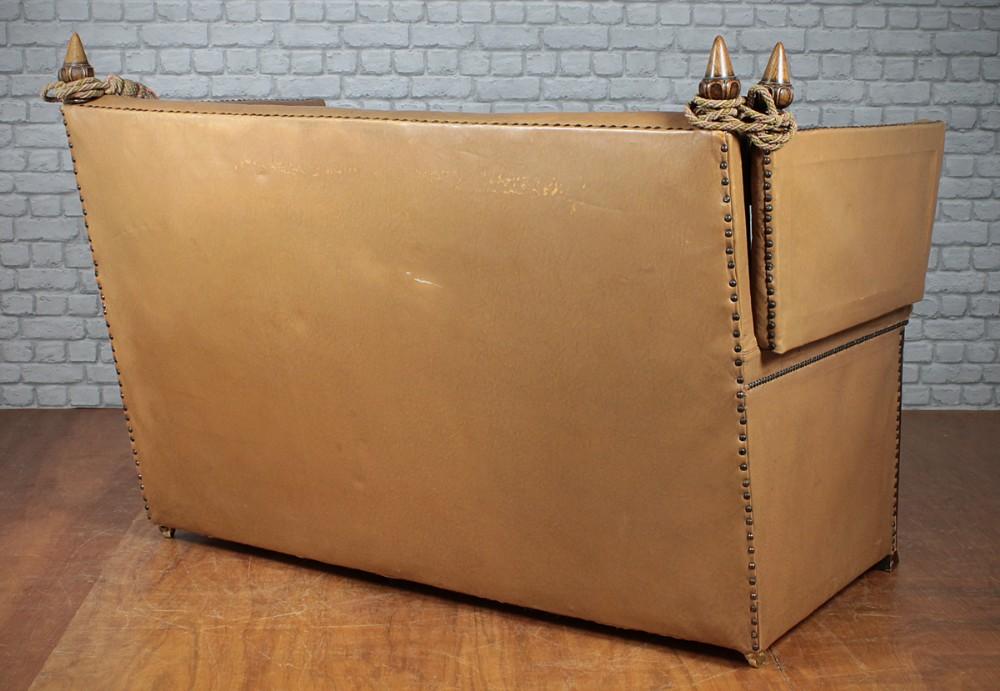 Small Leather Knole Sofa C.1920.
