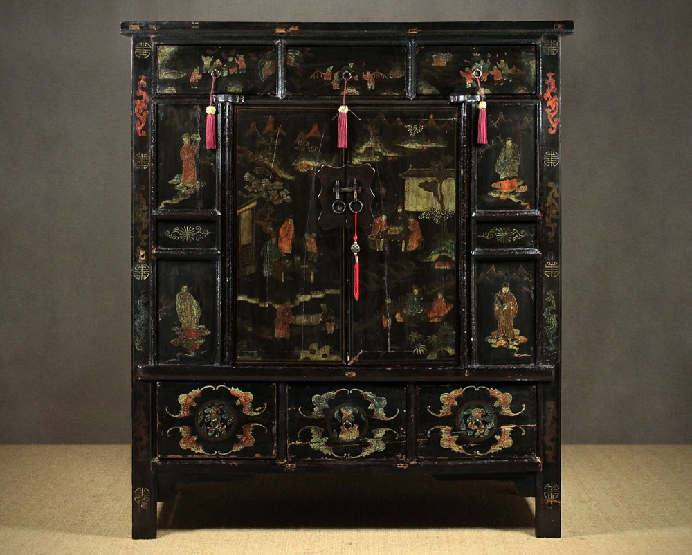 large antique chinese lacquered cabinet - Large Antique Chinese Lacquered Cabinet. 353454 Sellingantiques