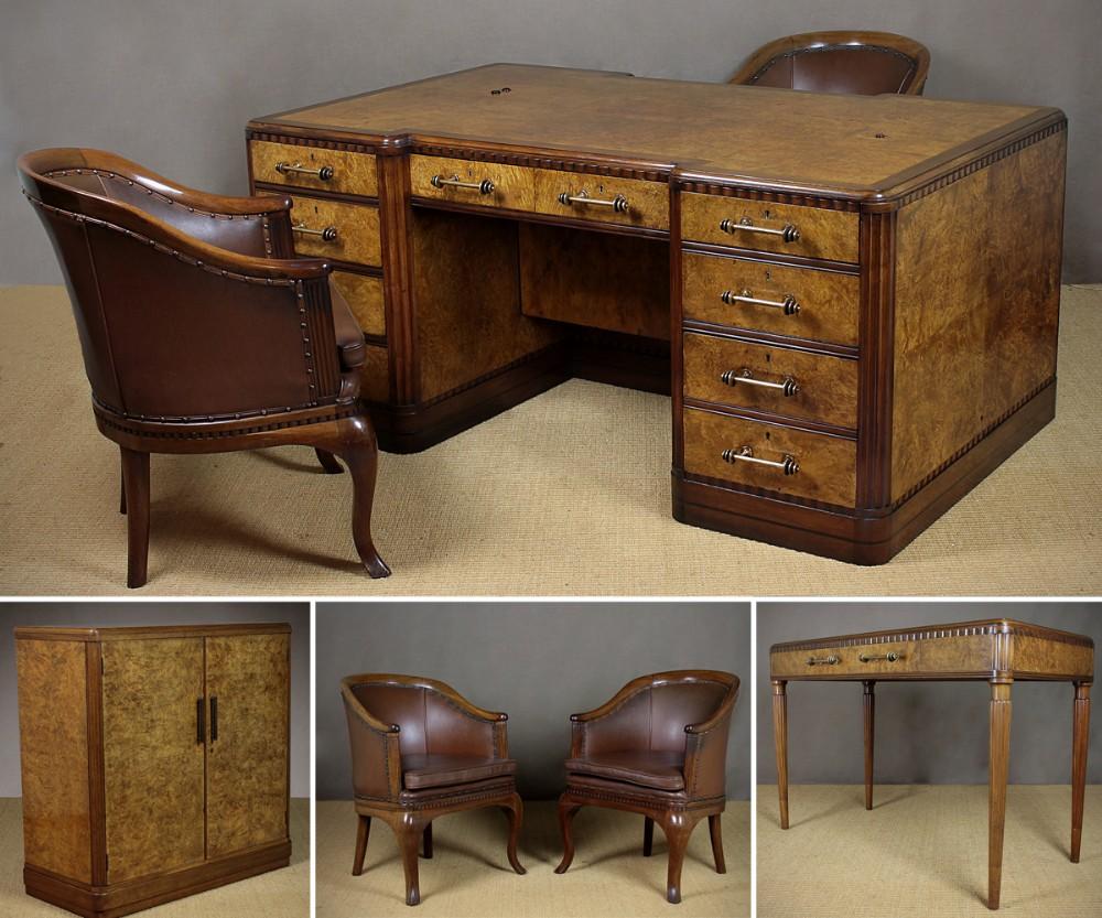 Suite Of Art Deco Office Furniture C1930