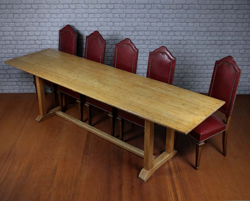10 seater oak refectory dining table 438021 for 10 seater dining table uk