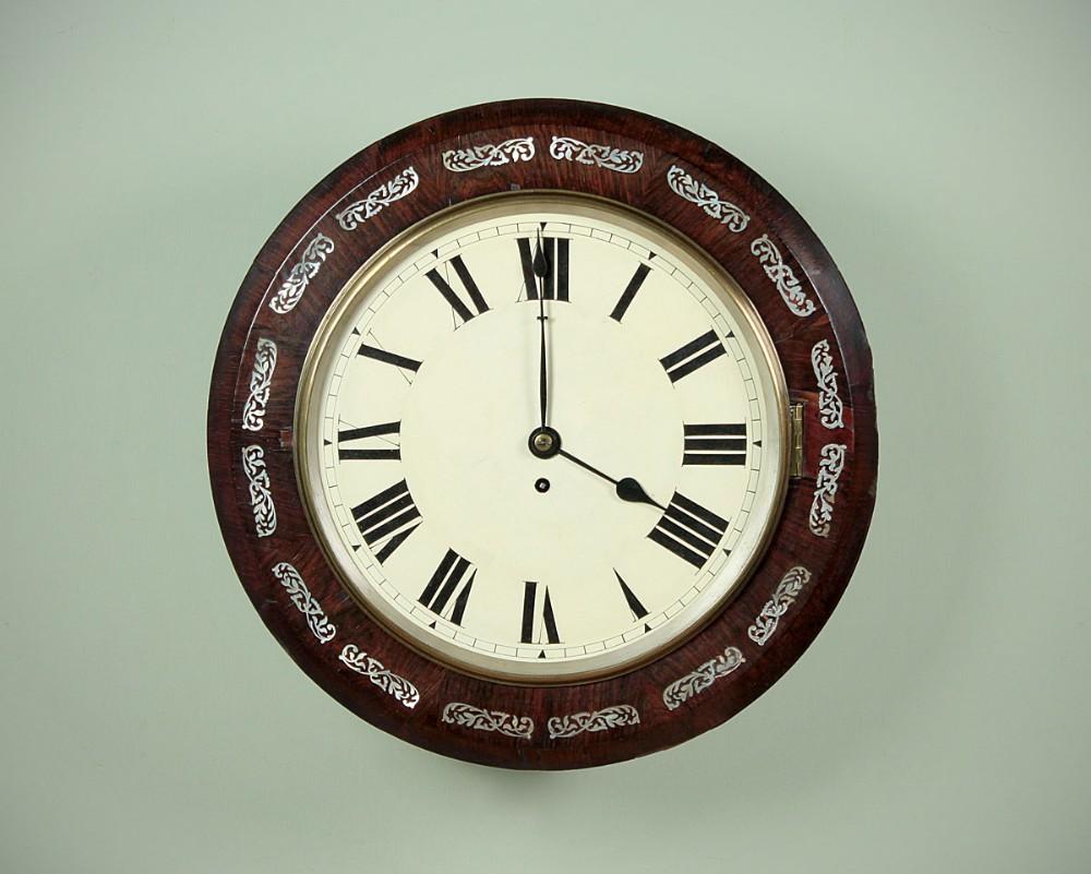 rosewood fusee wall clock c1880