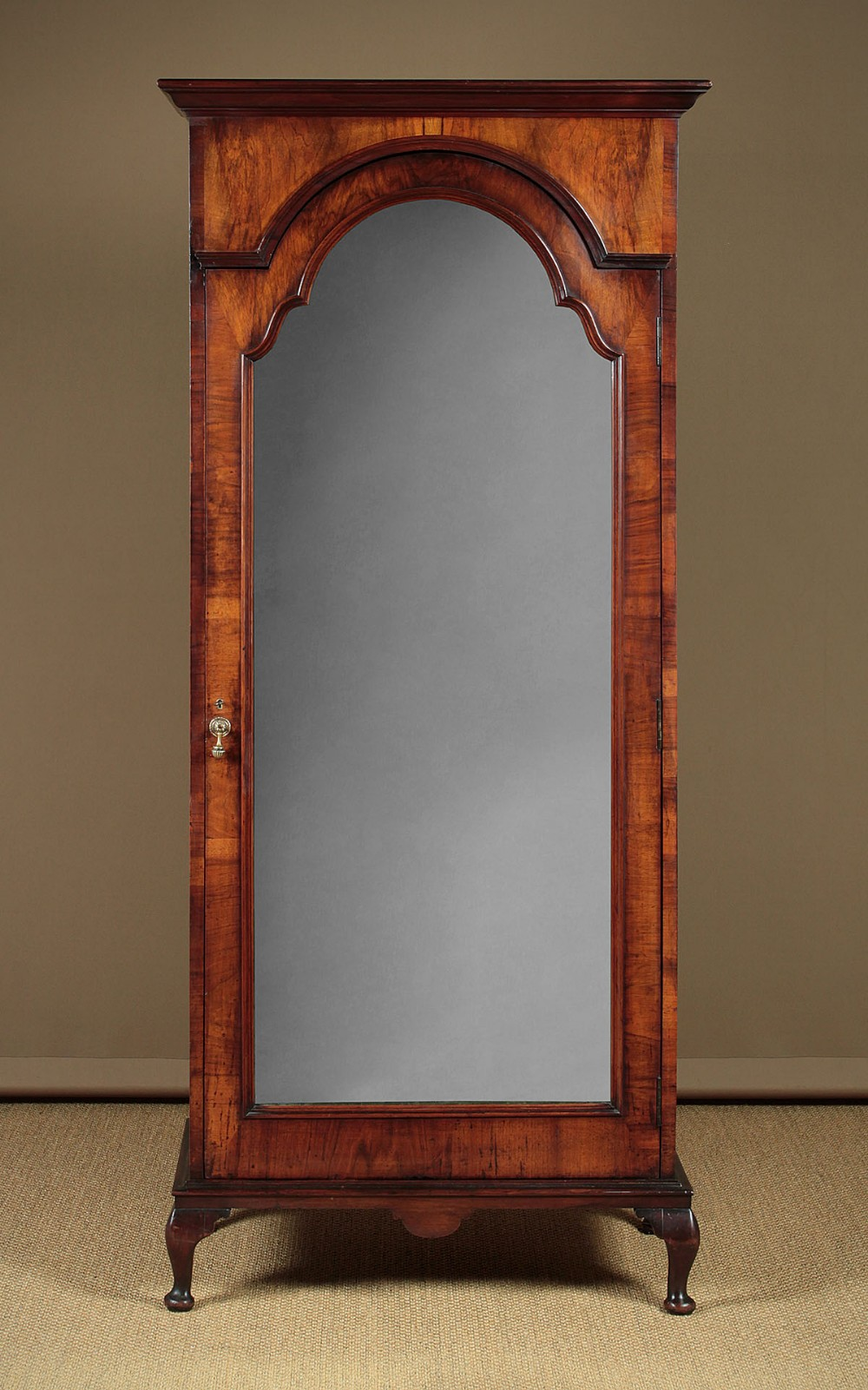 small queen anne style walnut wardrobe c1920