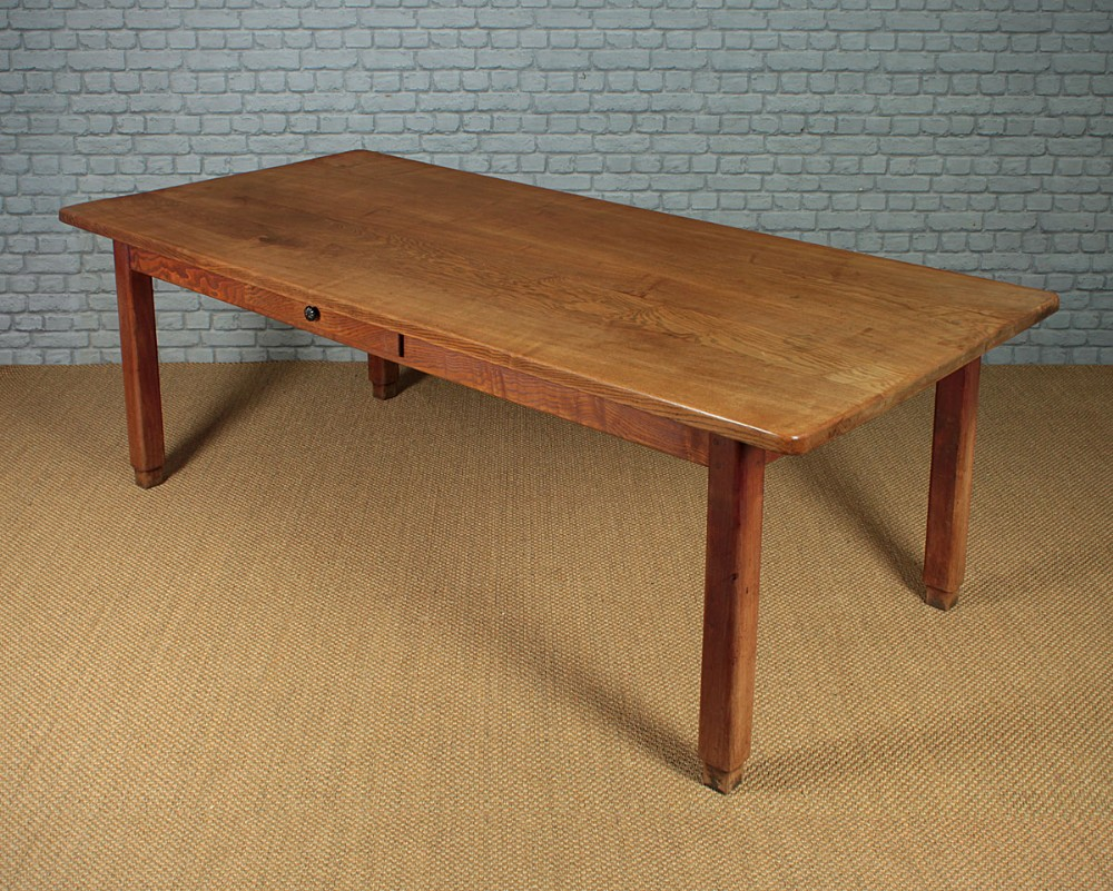 large elm kitchen dining table c1890