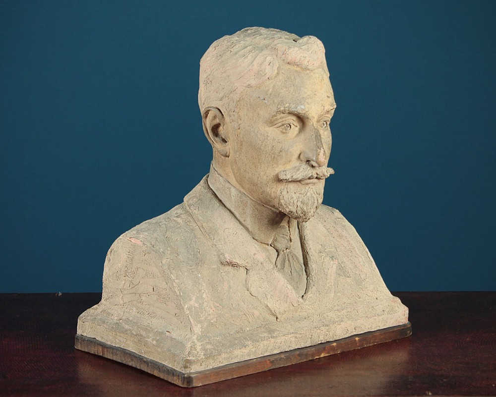 french bust of a gentleman dated 1911