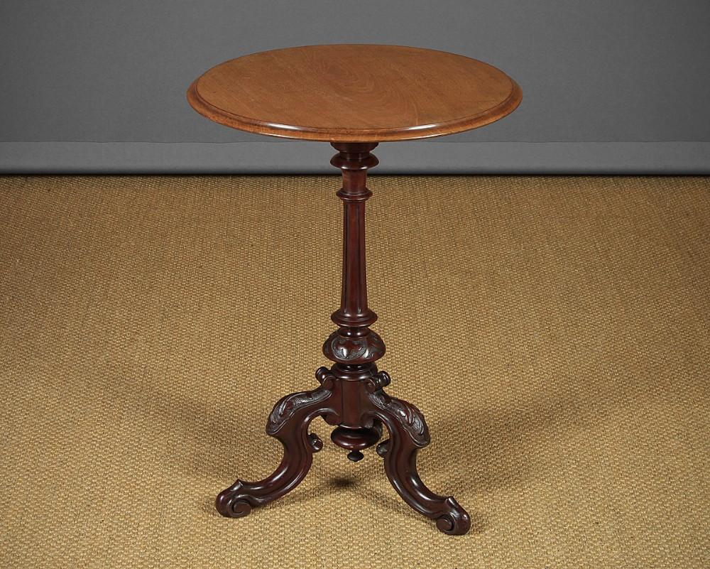 mid 19thc mahogany tripod table c1860