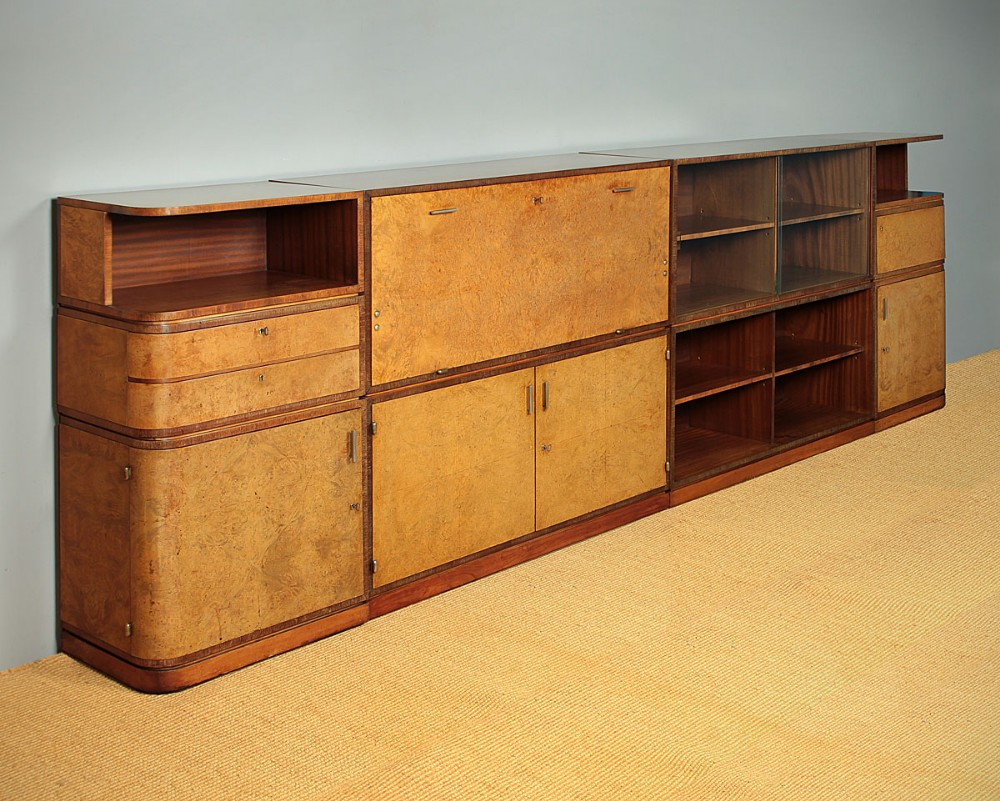 long art deco modular cabinet bookcase c1930